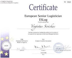 Vygintas Šivickas - Sertifikatai | Fortis-solutions.com